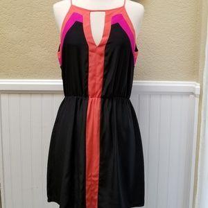 Parker 100% Silk Halter Keyhole Dress S